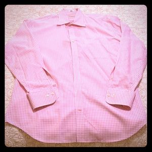 H. Stockton Pink and White Check Sport Shirt - L